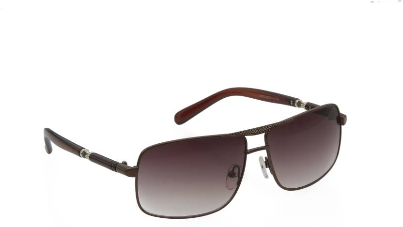 7490646ede6d Buy Iris Eyewear Rectangular Sunglasses Brown For Men Online @ Best ...
