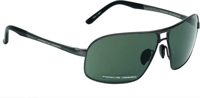 d4cbf619cda Buy Porsche Design Rectangular Sunglasses Green For Men   Women ...