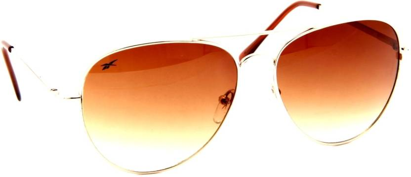 aca971edd86e Buy REEBOK Aviator Sunglasses Brown For Men & Women Online @ Best ...