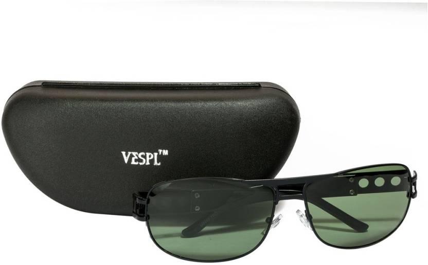 1627b2570f0 Buy VESPL Rectangular Sunglasses Green For Men Online   Best Prices ...