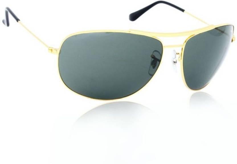 69ba4e59b1 Buy Roy Bon Aviator Sunglasses Green For Men   Women Online   Best ...