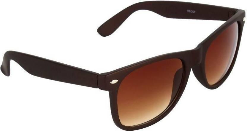 5bcae80e0ea Buy OODI Wayfarer Sunglasses Brown For Men Online   Best Prices in ...