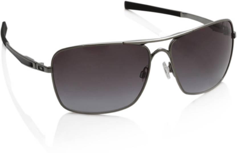 0ab490fcd Buy Oakley PLAINTIFF SQUARED Rectangular Sunglass Grey For Men ...