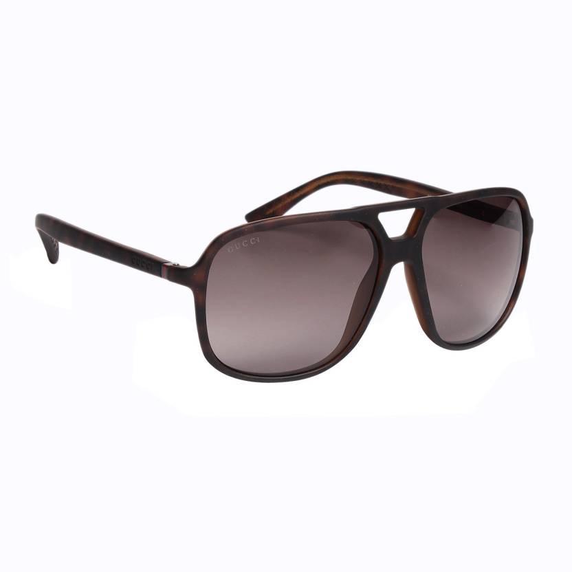 62e2fd0ce4c Buy GUCCI Aviator Sunglasses Grey For Men   Women Online   Best ...