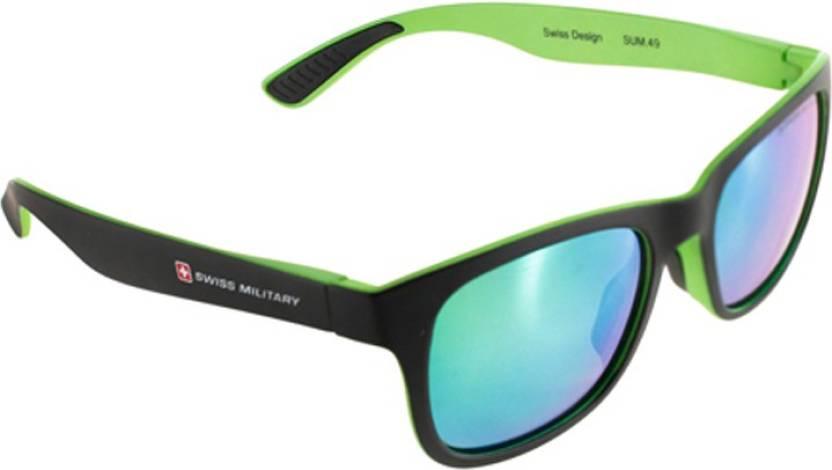 8dc703e3df Buy Swiss Military Wayfarer Sunglasses Green For Men Online   Best ...