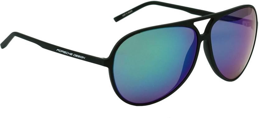 3b799d7a0bf Buy Porsche Design Aviator Sunglasses Grey For Men Online   Best ...
