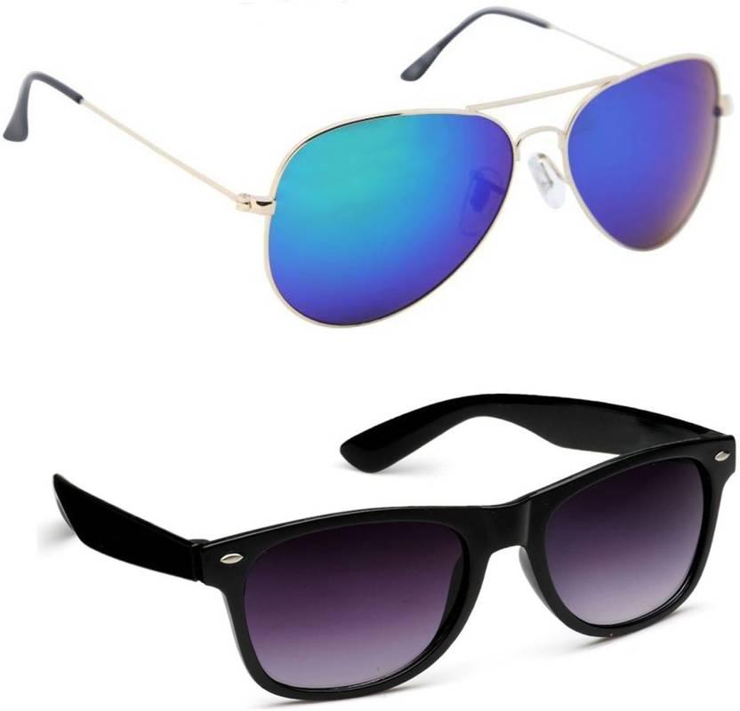 a93cba56f7 Buy Just Style Aviator Sunglasses Multicolor For Men   Women Online ...