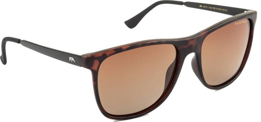 6aa1ff44cb63 Buy Farenheit Wayfarer Sunglasses Brown For Men & Women Online ...