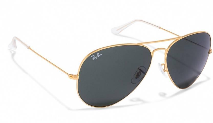 Buy Ray-Ban Aviator Sunglasses Black For Men   Women Online   Best ... 45e0d40b6b