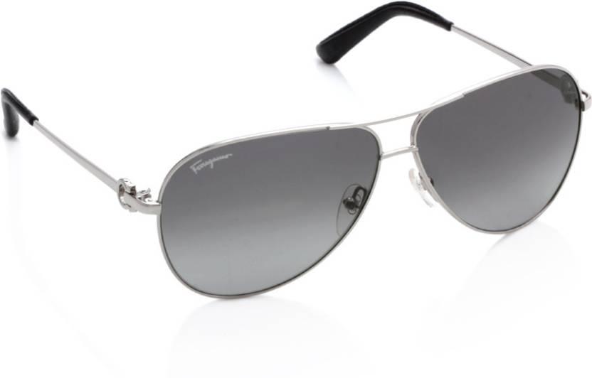 eb47c77f899 Buy Salvatore Ferragamo Aviator Sunglasses Grey For Men   Women ...