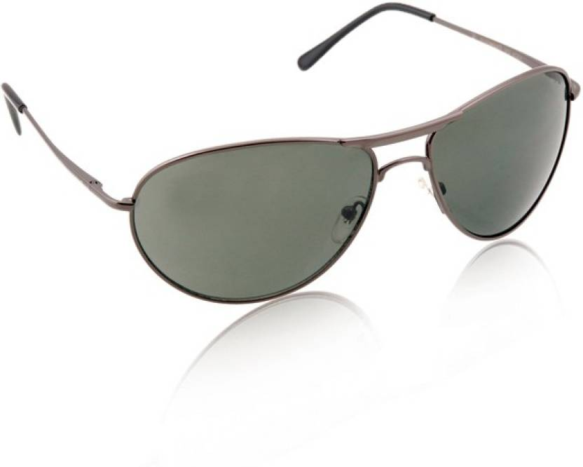 00e70259f25a Buy REEBOK Aviator Sunglasses Green For Men Online @ Best Prices in ...