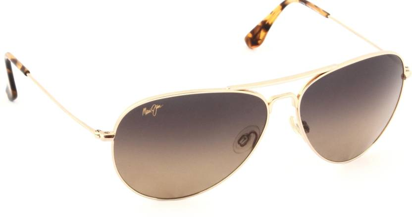 eebc375a57 Buy Maui Jim Aviator Sunglasses Brown For Men   Women Online   Best ...