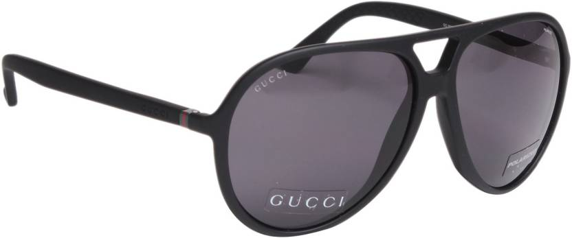 8f0934cb985 Buy GUCCI Aviator Sunglasses Grey For Men Online   Best Prices in ...