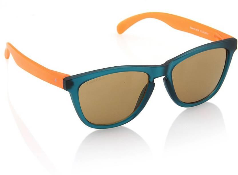 46420a29f3 Buy Fastrack Wayfarer Sunglasses Brown For Men   Women Online   Best ...