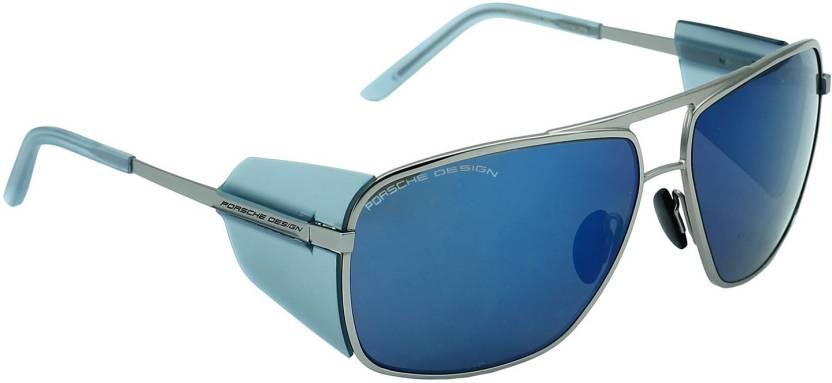 0c484f5f94bc Buy Porsche Design Rectangular Sunglasses Grey For Men Online   Best ...