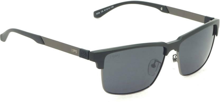 7609a25f55 Buy I-Gogs Rectangular Sunglasses Black For Men Online   Best Prices ...