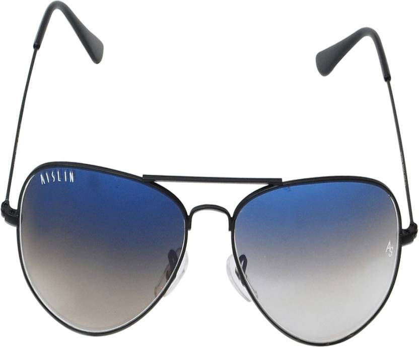 0298eb0188be8 Buy Aislin Aviator Sunglasses Blue For Men Online   Best Prices in ...