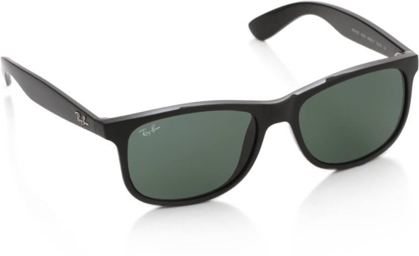 edf73eb6b09 Buy Ray-Ban Wayfarer Sunglasses Green For Men Online   Best Prices ...