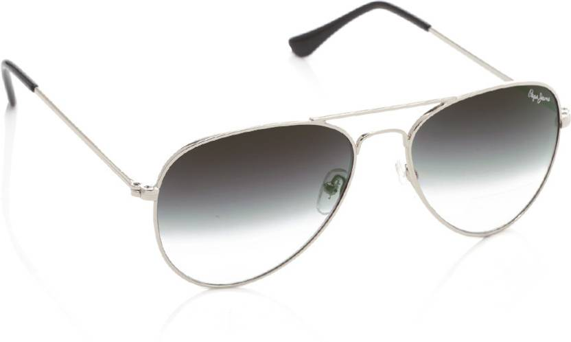 7bd0f9fafdac2 Buy Pepe Jeans Aviator Sunglasses Grey For Men   Women Online   Best ...