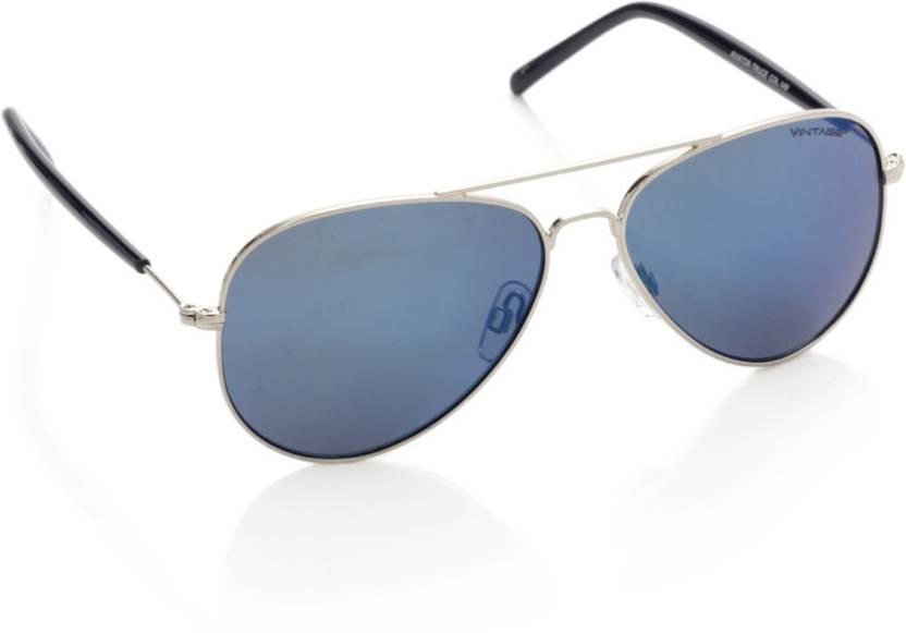 2d94eb48c3 Buy Vintage Aviator Sunglasses Blue For Men   Women Online   Best ...
