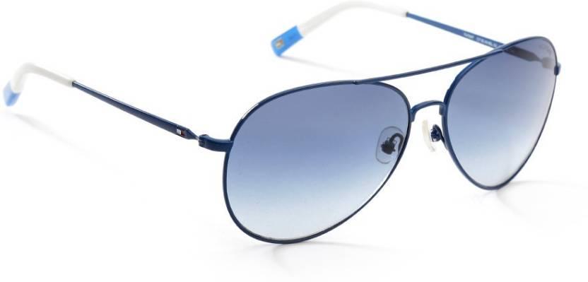 fe10435b6cdb Buy Tommy Hilfiger Aviator Sunglasses Blue For Men & Women Online ...