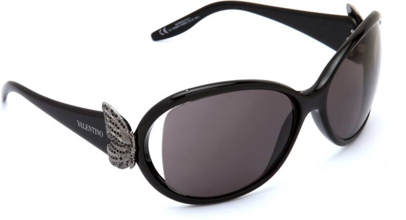 fa9133d7c00 Buy Valentino Oval Sunglasses Grey For Women Online   Best Prices in ...