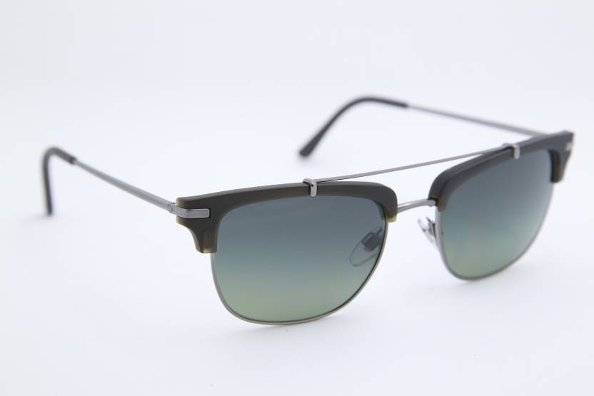 08fc49ac354 Buy Burberry Wayfarer Sunglasses Green For Men   Women Online   Best ...