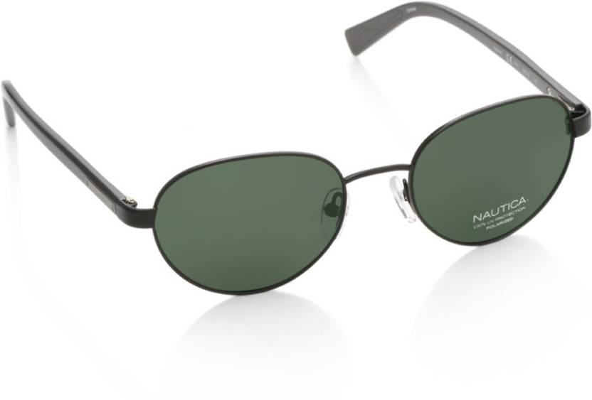 034686df202 Buy Nautica Oval Sunglasses Green For Men Online   Best Prices in ...