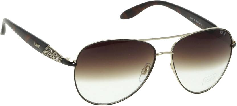 1b00f4b056 Buy IDEE Aviator Sunglasses Brown For Women Online   Best Prices in ...