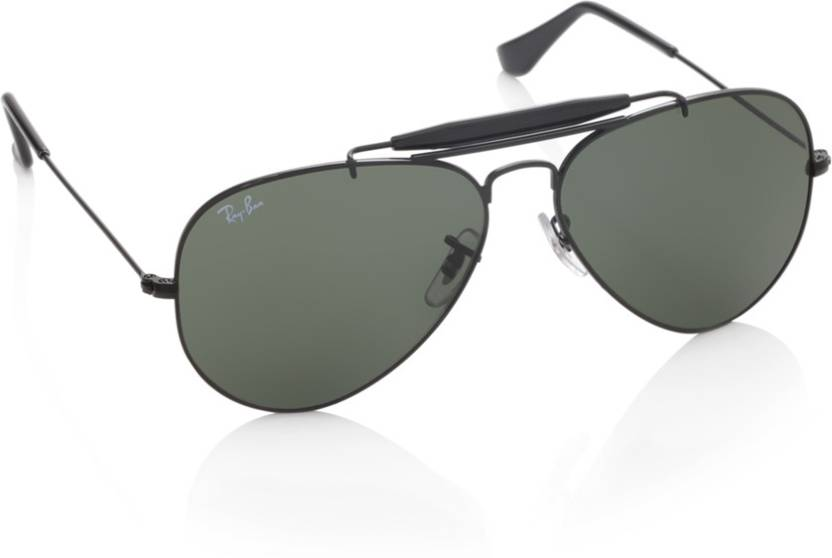 Buy Ray-Ban Aviator Sunglasses Green For Men Online   Best Prices in ... 03515406d6