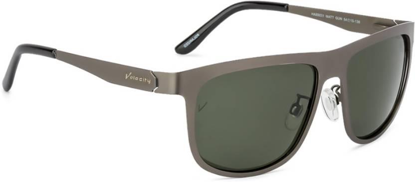 fd30490f99 Buy Velocity Wayfarer Sunglasses Green For Men Online   Best Prices ...