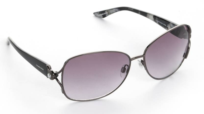 e3bbb73349b Buy Celine Dion Oval Sunglasses Grey For Women Online   Best Prices ...
