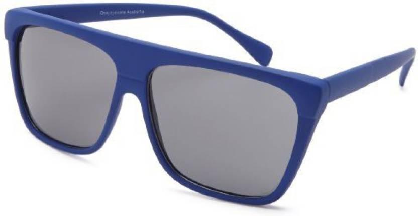 f2bd1b9a3b9fa Buy Quay Eyewear Australia Guy Dra Square Sunglasses - Blue - 55 Mm ...