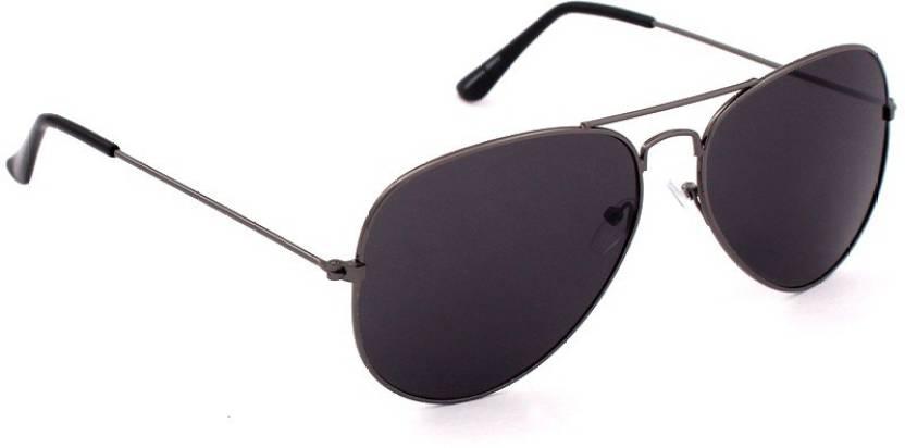 6389708f013c Buy Just Colours Aviator Sunglasses Black For Men Online   Best ...