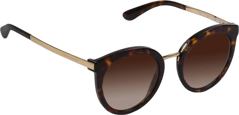 af516f352ae Buy Dolce   Gabbana Round Sunglasses Brown For Men   Women Online ...