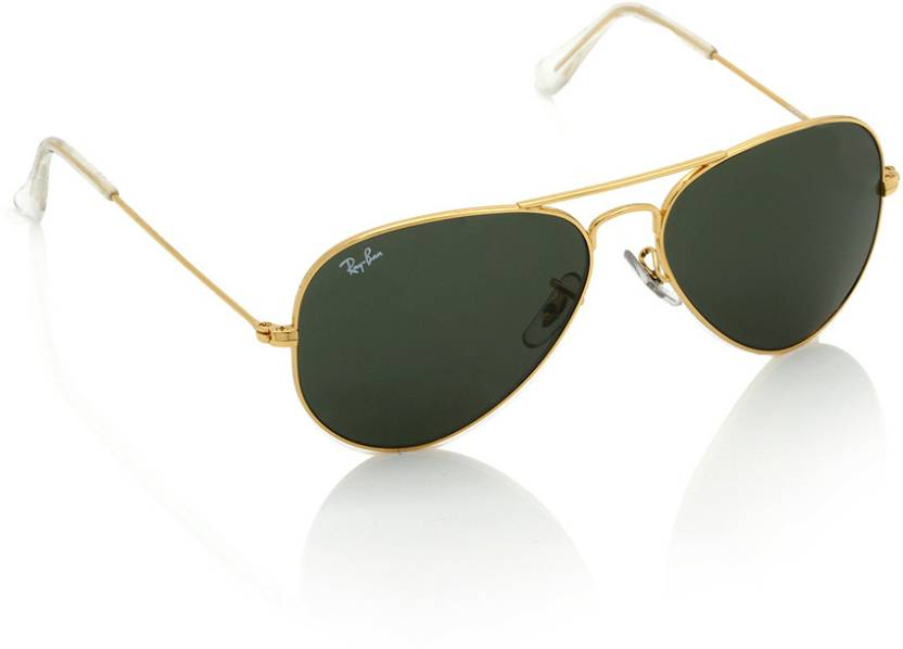 f2212e7f57a5 Buy Ray-Ban Aviator Sunglasses Green For Women Online   Best Prices in  India