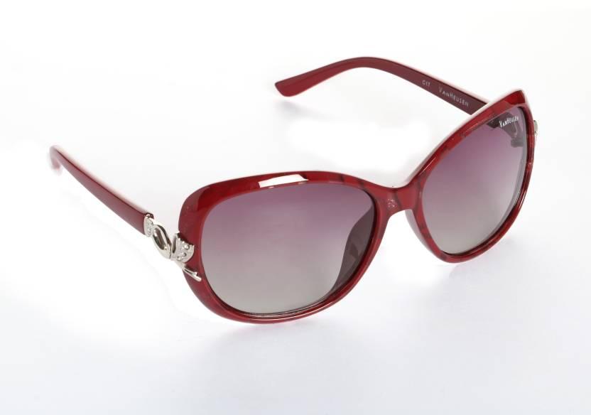 b7af75f681ac Buy Van Heusen Over-sized Sunglasses Red For Women Online @ Best ...
