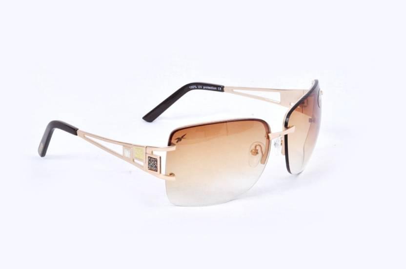 6c74369a83ee Buy REEBOK Aviator Sunglasses Brown For Men Online @ Best Prices in ...