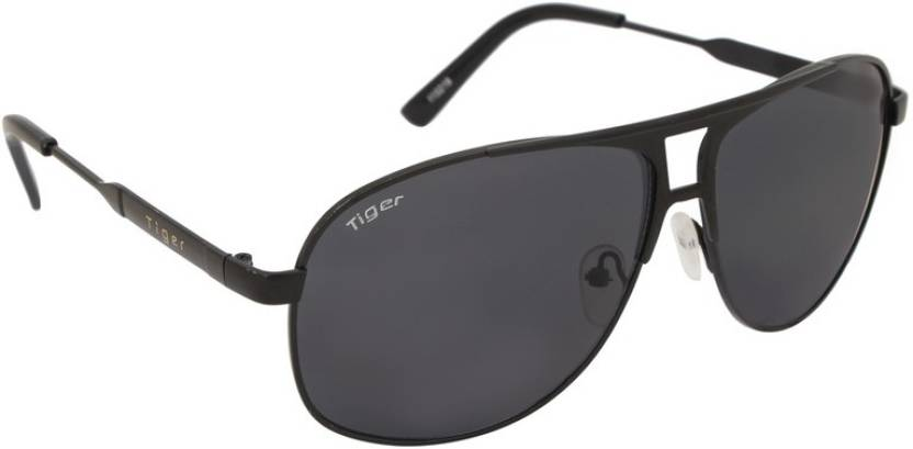 Get best deal for Tiger Eyewear 115219a Aviator Sunglasses  (Black) at Compare Hatke