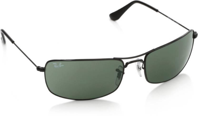 b68bb41ac413e Buy Ray-Ban Rectangular Sunglasses Green For Men Online   Best ...