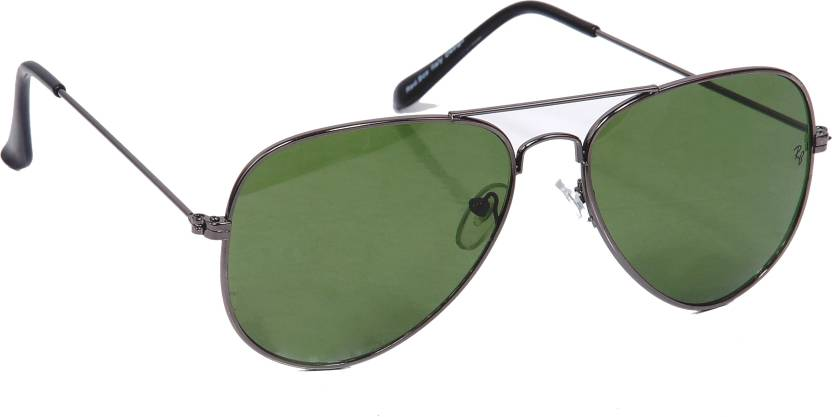 76bb7c535f Buy Red.Boy Aviator Sunglasses Green For Men Online   Best Prices in ...