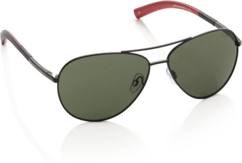 5e45a15a9c Buy Vintage Aviator Sunglasses Green For Men   Women Online   Best ...