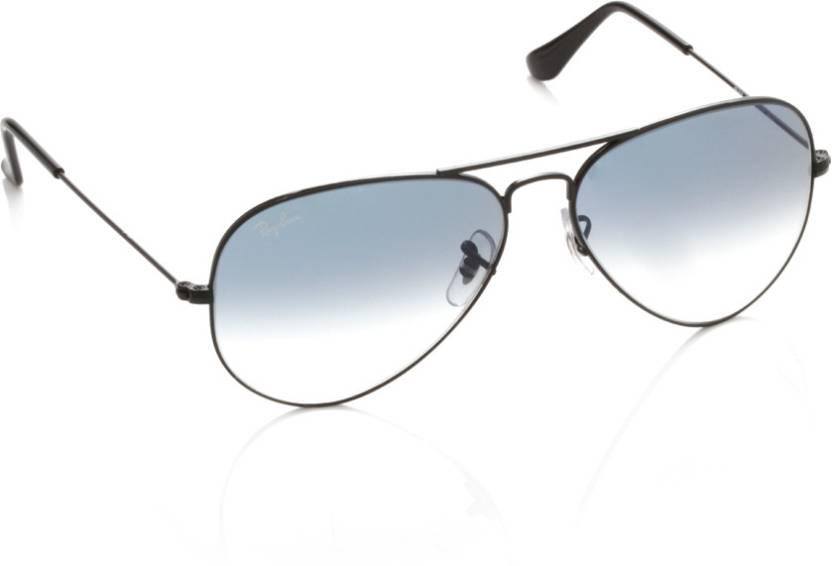 Buy Ray-Ban Aviator Sunglasses Blue For Men Online   Best Prices in ... 19e979b9fe