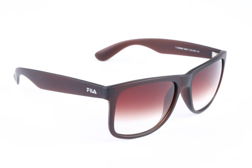 159a97e45ca7 Buy Fila Wayfarer Sunglasses Brown For Men Online @ Best Prices in ...