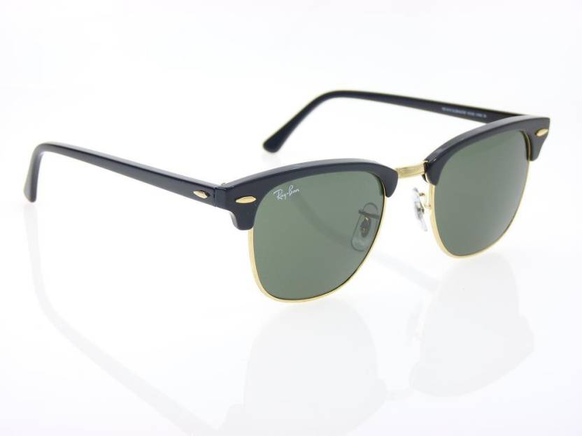 4a3bc320167e Buy Ray-Ban Clubmaster Sunglasses Green For Men Online @ Best Prices ...