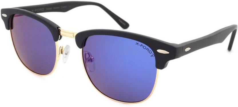 e1ad9d95bd2 Buy X-Ford Rectangular Sunglasses Blue For Men   Women Online   Best ...