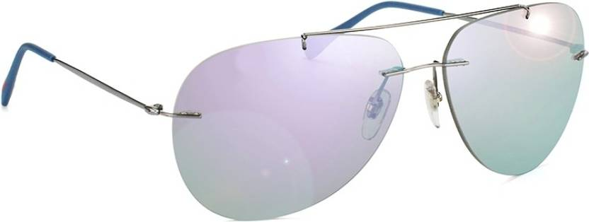 f85c42f9148b Buy Prada Aviator Sunglasses Blue For Men   Women Online   Best ...