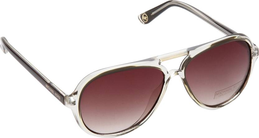 Buy Michael Kors Aviator Sunglasses Brown For Women Online   Best ... c5b6285c762d