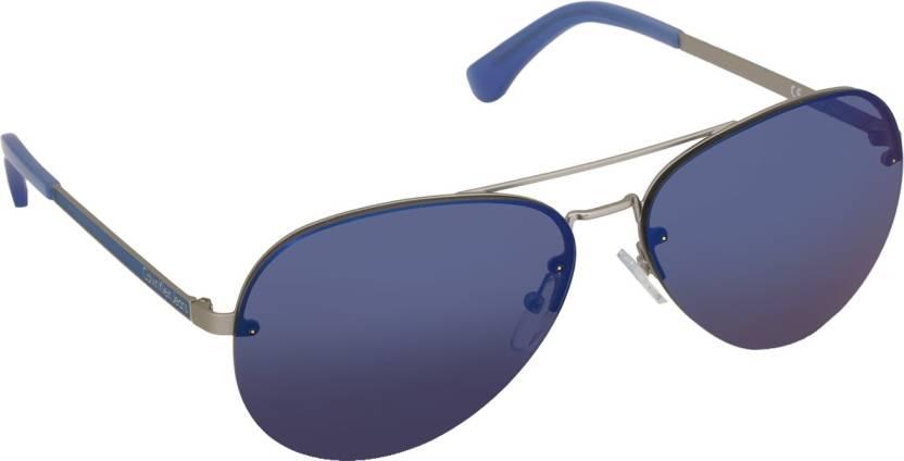 8b37e52c7dc Buy Calvin Klein Aviator Sunglasses Blue For Men Online   Best ...