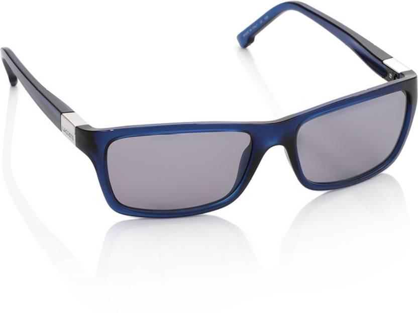 4dbab2c58e0 Buy Lacoste Wayfarer Sunglasses Grey For Men   Women Online   Best ...